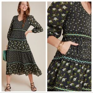 Anthropologie Karoline Tiered Maxi Dress